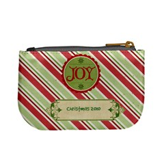 Merry Christmas Mini Coin Purse (stripes) By Jen   Mini Coin Purse   Eag75fx38p36   Www Artscow Com Back
