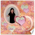 My Little Angels purple white 12x12 Canvas - Canvas 12  x 12