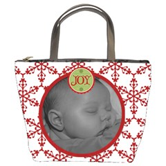 Joy Snowflake Bucket Bag By Jen   Bucket Bag   K460p37imnml   Www Artscow Com Front