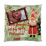 Santa Just Brought Us the BEST Present 2010 2 sided cushion case - Standard Cushion Case (Two Sides)