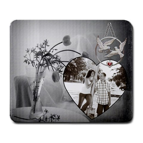 Love Birds Mousepad By Lil    Large Mousepad   4e647hsjf30z   Www Artscow Com Front