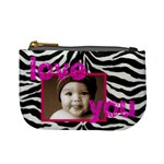 love you smile zebra mini coin purse