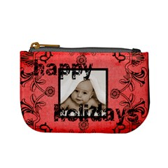 Happy Holidays Love You Red Mini Coin Purse By Catvinnat   Mini Coin Purse   3wh2i4nauj59   Www Artscow Com Front