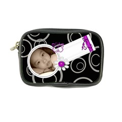 Circles On Black Mini Purse By Purplekiss   Coin Purse   P84u5dr6n67p   Www Artscow Com Front