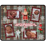 Santa Brought Us the BEST Present in 2010 Medium Fleece Blanket - Fleece Blanket (Medium)