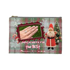 Santa Brought Us The Best Present In 2010 Large Cosmetic Bag By Ellan   Cosmetic Bag (large)   Y0j10dits931   Www Artscow Com Front