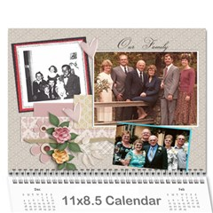 2011 Family Calendar By Peggy Reed   Wall Calendar 11  X 8 5  (12 Months)   2afkje4vu5ol   Www Artscow Com Cover