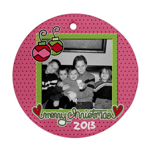 Circle Ornament 1 By Martha Meier   Ornament (round)   Z8zamm04eahc   Www Artscow Com Front