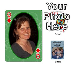 Queen Cards Completed By Dianne Marshall   Playing Cards 54 Designs   Dmrgk9jfs2vr   Www Artscow Com Front - DiamondQ