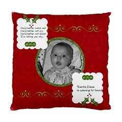 Red Santa Cushion Case (2 Sided) By Jen   Standard Cushion Case (two Sides)   X4xy0w0xkpqk   Www Artscow Com Front