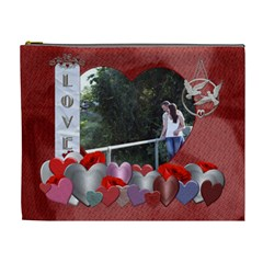Love Of My Life Xl Cosmetic Bag By Lil    Cosmetic Bag (xl)   3pegfghvst2j   Www Artscow Com Front