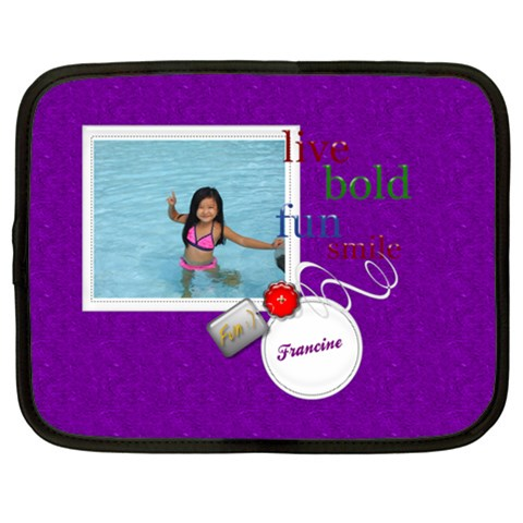 Purple Photo Custom Netbook Case (xxl)   15  Netbooks  By Purplekiss   Netbook Case (xxl)   9yu97935cbmz   Www Artscow Com Front