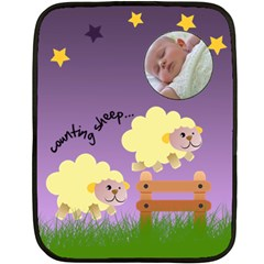 Counting Sheep   Blanket By Carmensita   Double Sided Fleece Blanket (mini)   R5fq8o6ggwuq   Www Artscow Com 35 x27 Blanket Front