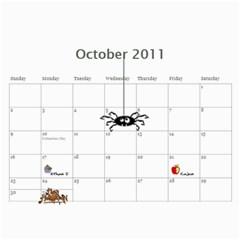 Family Calendar By Linda Larsen   Wall Calendar 11  X 8 5  (12 Months)   Xqwup8usqtd5   Www Artscow Com Oct 2011