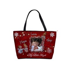My Little Angels I Love Christmas Red Classic Shoulder Bag 2 Sides  By Ellan   Classic Shoulder Handbag   Lslnn2objry0   Www Artscow Com Front