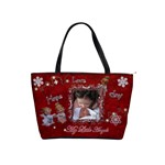 My Little Angels I Love Christmas red classic shoulder bag 2 sides  - Classic Shoulder Handbag