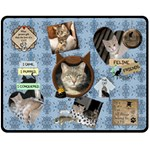 Cat Medium Fleece Blanket - Fleece Blanket (Medium)