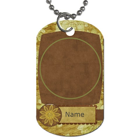 Feeling Nostalgic Round Frame By Bitsoscrap   Dog Tag (one Side)   G8gppazqhttv   Www Artscow Com Front