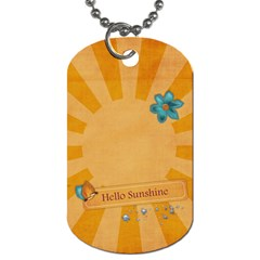 You Are My Sunshine Dogtag By Mikki   Dog Tag (two Sides)   Ldgicab7p3md   Www Artscow Com Back