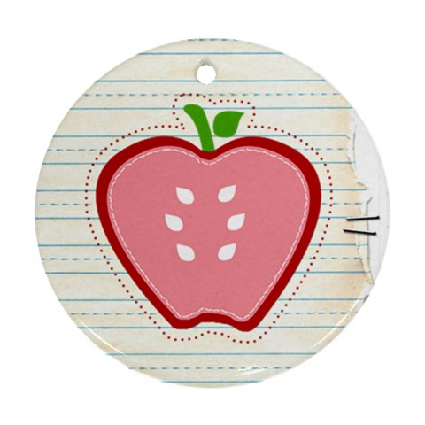 Apple Ornament By Spaces For Faces   Ornament (round)   Powvu96yw4da   Www Artscow Com Front