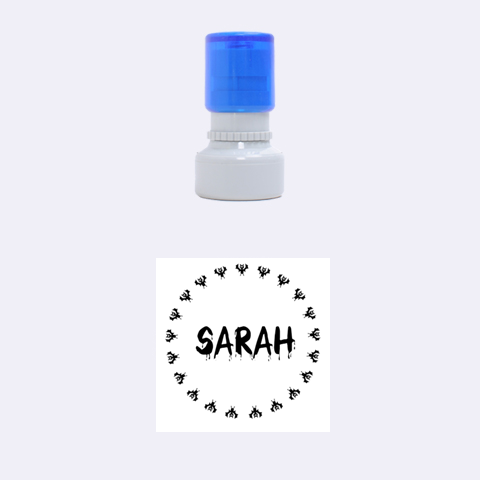 Sarah Bats By Carmensita   Rubber Stamp Round (small)   D9ckezvr0sd0   Www Artscow Com 1.12 x1.12  Stamp