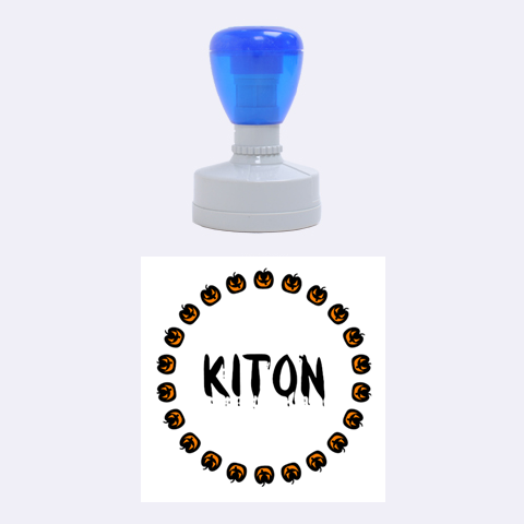 Kiton Pumpkin By Carmensita   Rubber Stamp Round (medium)   Ehaqhfa898px   Www Artscow Com 1.5 x1.5  Stamp