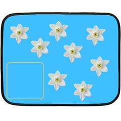 Flowers Blanket By Carmensita   Double Sided Fleece Blanket (mini)   Fqm4gx85a3xb   Www Artscow Com 35 x27 Blanket Back