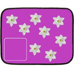 Flowers  Blanket By Carmensita   Double Sided Fleece Blanket (mini)   Prcytwgelvga   Www Artscow Com 35 x27 Blanket Front