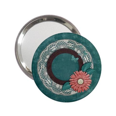 Lace & Flower Frame Pocket Mirror By Mikki   2 25  Handbag Mirror   6miligovscrc   Www Artscow Com Front