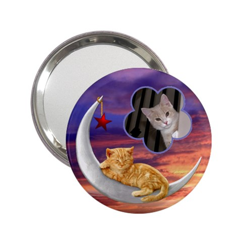 Kitty Handbag Mirror By Lil    2 25  Handbag Mirror   U02lljs71nmp   Www Artscow Com Front