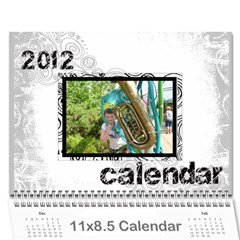 Faded Glory Monochrome 2012 Calendar By Catvinnat   Wall Calendar 11  X 8 5  (12 Months)   X4q768afo7t7   Www Artscow Com Cover
