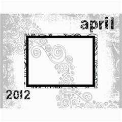 Faded Glory Monochrome 2012 Calendar By Catvinnat   Wall Calendar 11  X 8 5  (12 Months)   X4q768afo7t7   Www Artscow Com Month