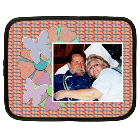 Flower Butterfly Netbook Case By Danielle Christiansen   Netbook Case (large)   Hi357amokg1y   Www Artscow Com Front
