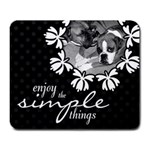 Enjoy The Simple Things Mouse Pad - Large Mousepad