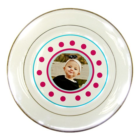 Baby Girl Plate By Danielle Christiansen   Porcelain Plate   Pq8zd47zr5yk   Www Artscow Com Front