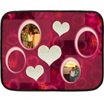 I Heart You Pink Love Mini Fleece Blanket - Fleece Blanket (Mini)