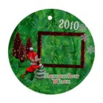 Elf Remember when 2010 Christmas ornament round - Ornament (Round)