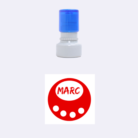 Marc Circle By Carmensita   Rubber Stamp Round (small)   Egreqfaoqv6q   Www Artscow Com 1.12 x1.12  Stamp