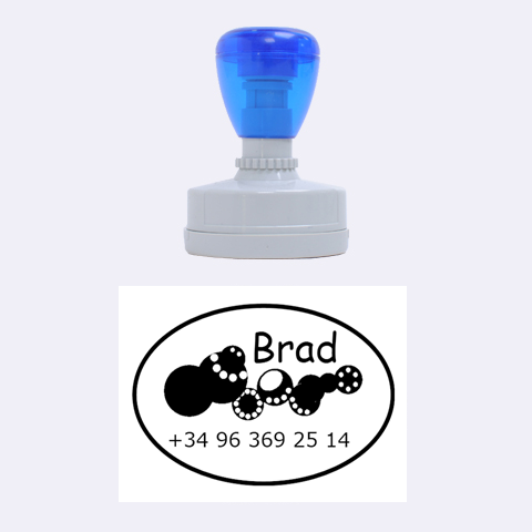 Brad Mobile By Carmensita   Rubber Stamp Oval   Hxxs2b5pdxya   Www Artscow Com 1.88 x1.37  Stamp