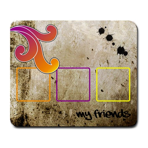 Funky Alley Mousepad01 By Carol   Large Mousepad   Nc203uct2mm3   Www Artscow Com Front