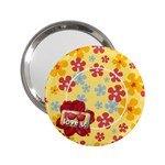 Love u-summer flowers-pocket mirror - 2.25  Handbag Mirror