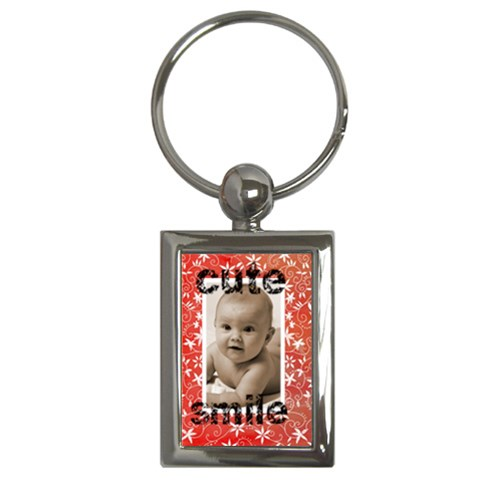 Cute Smile Keyring By Catvinnat   Key Chain (rectangle)   O8zlit795fm5   Www Artscow Com Front