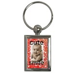 cute smile keyring - Key Chain (Rectangle)