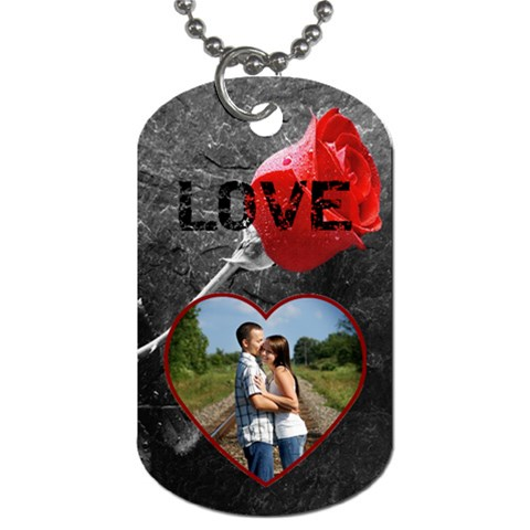 Rose Dog Tag By Lil    Dog Tag (one Side)   1g467hdc5hi1   Www Artscow Com Front
