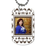 Brown frame tag - Dog Tag (One Side)