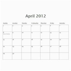 Our Calendar By Sarah   Wall Calendar 11  X 8 5  (18 Months)   Ug64y9vpdbku   Www Artscow Com Apr 2012