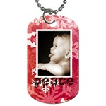 peace & joy red snowflake l dog tag - Dog Tag (Two Sides)
