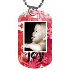 Peace & Joy Red Snowflake L Dog Tag By Catvinnat   Dog Tag (two Sides)   Lj5ffp8i64sy   Www Artscow Com Back