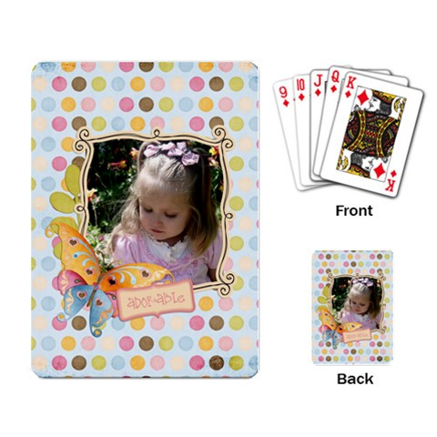 Adorable Playing Cards By Sheena   Playing Cards Single Design   K6ddaz1i0qma   Www Artscow Com Back