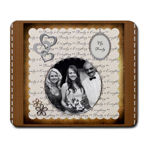 Family Is Everything Large Mousepad By Lil    Large Mousepad   L0o6txolzls1   Www Artscow Com Front